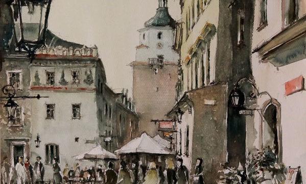 Lublin – widok na Rynek z ulicy Grodzkiej