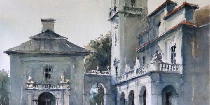 Pałac w Kozłówce – skrzydło południowe w zachodnim świetle