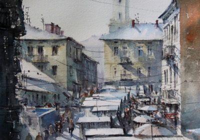 Drohobycz. Mroźnie na Małym Rynku